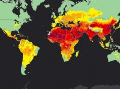 A map of global concentrations of air pollutants, which the WHO says is the most detailed study it has ever released